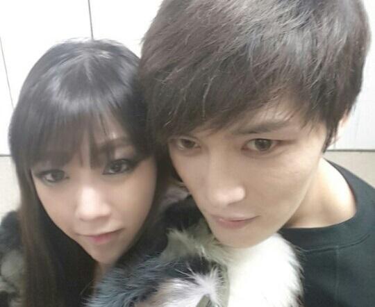 Jaejoong Girlfriend 2014 [PIC] 150129 Lucky Gir...