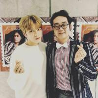 [OTHER SNS] 171210 MC Woo Kyrie shares a photo with Kim Jaejoong at the Backstage Japanese Fanmeeting
