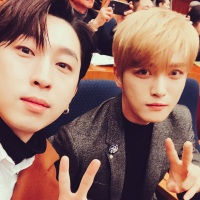 [OTHER INSTAGRAM] 171207 Sleepy Shares a Photo with Kim Jaejoong at 7th Korea Wave Awards